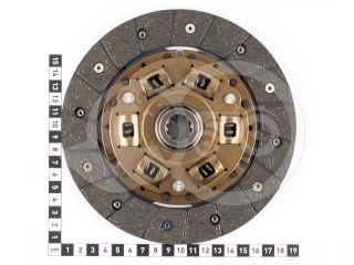 Kuplungtárcsa ka-cd6, 6 rugós, 10 bordás, D=180mm, Hinomoto, Mitsubishi, Yanmar kistraktorokhoz (2)