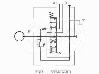 traktor hidraulika vezérlőtömb 1 körös (úszóállás nélküli) (1)