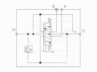 traktor hidraulika vezérlőtömb 1 körös (úszóállás nélküli) (2)