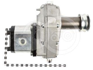 Hidraulika szivattyú, tlt hajtású, kistraktorhoz, hajtóművel (3)