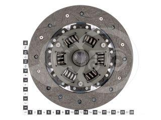 Kuplungtárcsa ka-cd10 6 rugós, 13 bordás (2)