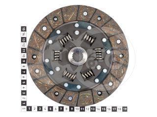 Kuplungtárcsa (Iseki TX1300) 18 bordás, 6 rugós (2)