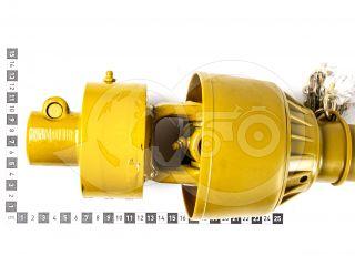 kardántengely 20LE (15kW), 1000mm, szabadonfutós, traktor (3)