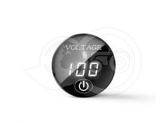 Feszültségmérő óra, kapcsolóval, digitális, japán kistraktorhoz (2)