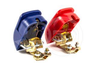 Akkumulátor saru pár, gyors oldású, műanyag takaró fedéllel (1)